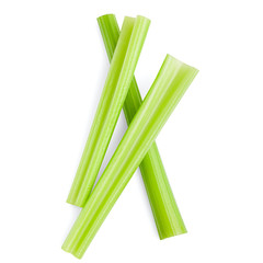 celery isolated on white background, clipping path, full depth of field