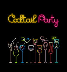 Canvas Prints Abstract Art Cocktail Party