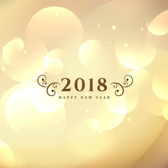 happy new year 2018 simple background