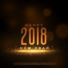 shiny 2018 happy new year greeting card design with sparkles