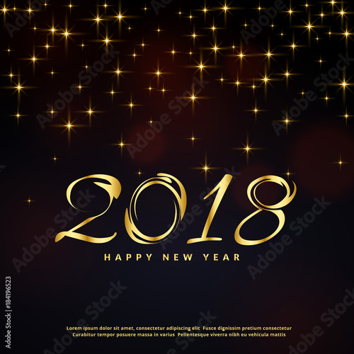 festival glitter background for happy new year 2018 greeting fotolia