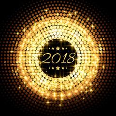 beautiful glitter glowing 2018 new year party celebration background