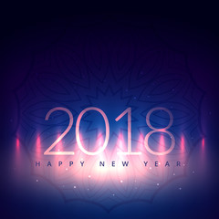 2018 new year card design with light effect