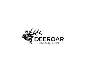 Deer Logo Template. Animal Vector Design. Wildlife Illustration