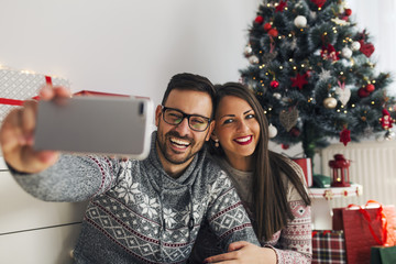 Taking Christmas photo