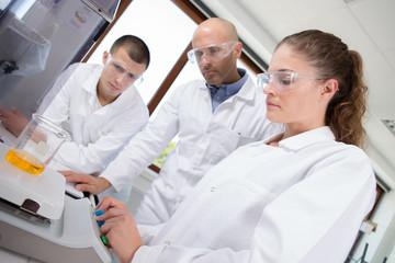biomedical technicians in the laboratory
