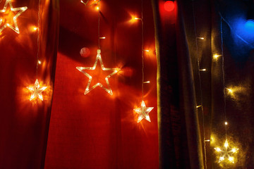starry and bright decor in the institution for the new year