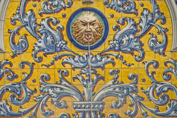 ceramic fountain of Talavera de la Reina, talavera ceramics