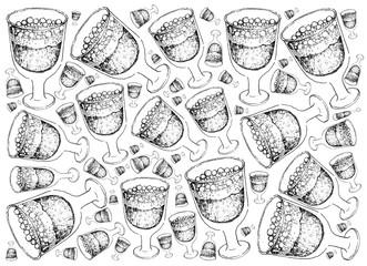 Hand Drawn of Swedish Christmas Drink Julmust Background