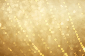 Beautiful golden bokeh background