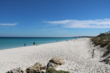 View to Port Beach, Fremantle at Indian Ocean, Western Australia
