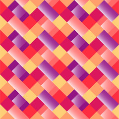 Vector pattern with geometric shapes, rhombus. Seamless background with zigzag motif. Multicolor illustration. Colorful repeatable texture.