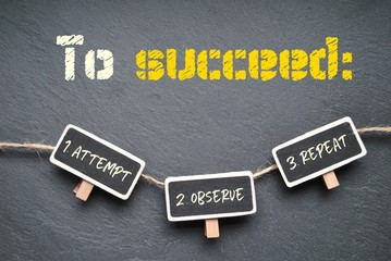 To succeed...
