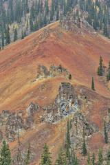 Rugged mountain vista on Million Dollar Highway