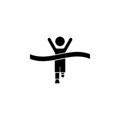 Winning Athlete crosses the finish line icon. The sign of win Icon. Premium quality graphic design. Signs, symbols collection, simple icon for websites, web design, mobile app