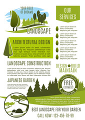 Landscape design company business banner template