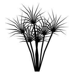 Cartoon Plant Isolated On White Background