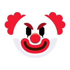 Cartoon Clown Emoji Isolated On White Background