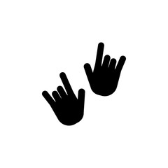 I Love You hand sign icon. Night club icon. Element of place of entertainment icon. Premium quality graphic design. Signs, outline symbols collection icon for websites, web design