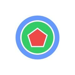 Circle Polygon Geometric logo design concept