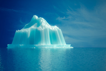 Iceberg in the sea.