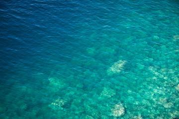 Ribbed sea surface.