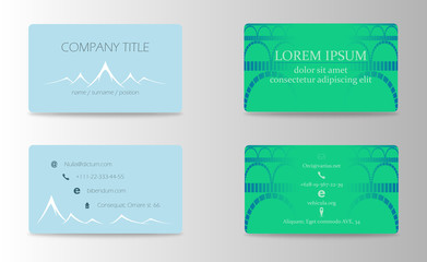 Vector modern creative and trending business visit cards set collection