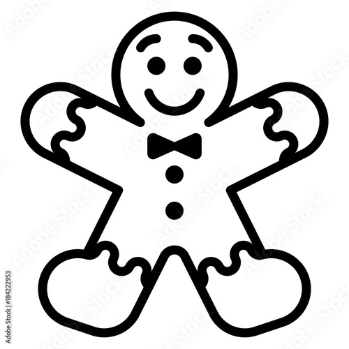 Gingerbread Clip Art Black And White