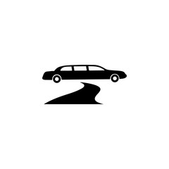 limousine parked near red carpet icon. Night club icon. Element of place of entertainment icon. Premium quality graphic design. Signs, outline symbols collection icon for websites