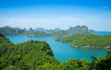 Fotobehang Kust View point, Wua Talab island, Ang Thong National Marine Park, Koh Samui, Thailand
