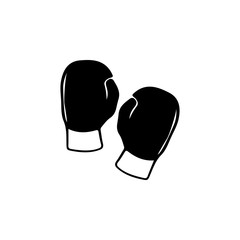 silhouette of boxing glove icon. Sports Accessory icon. Sport element icon. Premium quality graphic design. Signs, outline symbols collection icon for websites, web design, mobile