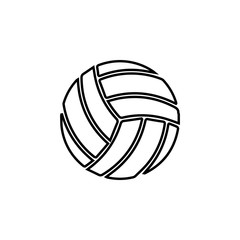 volleyball ball icon. Sports Accessory icon. Sport element icon. Premium quality graphic design. Signs, outline symbols collection icon for websites, web design, mobile app