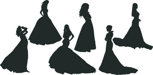 ドレスコードを着た女性のシルエット