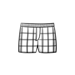 Vector hand drawn underpants outline doodle icon. Underpants sketch illustration for print, web, mobile and infographics isolated on white background.