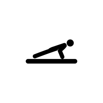 Push ups icon. Silhouette of an athlete icon. Sportsman element icon. Premium quality graphic design. Signs, outline symbols collection icon for websites, web design