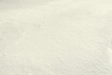 The texture of the snow