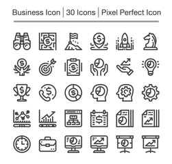 business and finance line icon,editable stroke,pixel perfect icon