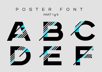 Vector Techno Font with Digital Glitch Text Effect. Minimal Geometric Typography for Logo Design, Music Poster, Fashion Show, Advertising. Modern Cyber Type in Futuristic Style. Trendy Urban Typeset.