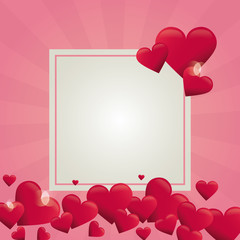 Valentines frame design vector illustration graphic design