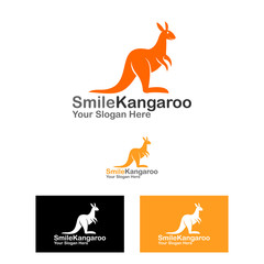 kangaroo and smart dog