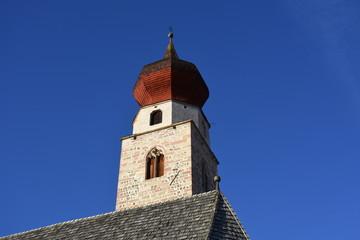 Südtirol, Ritten, Kirche, Wahrzeichen, Bozen, St. Nikolaus, Sankt Nikolaus, Mittelberg, Eisacktal, Mittelalter, Turm, Uhr, Fresko, Heilige, Sonnenuhr