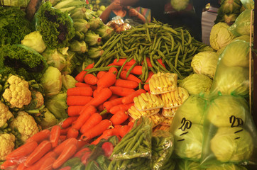 Various vegetables on the market photo