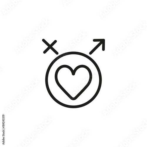 Heart With Male And Female Symbols Icon Stock Image And Royalty