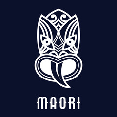 Maori mask logo