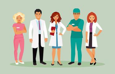 Medical staff vector