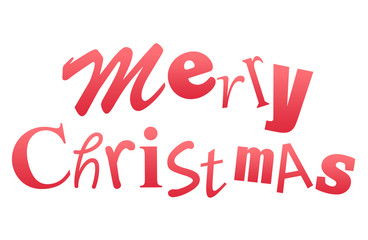 Merry Christmas inscription isolated on white background