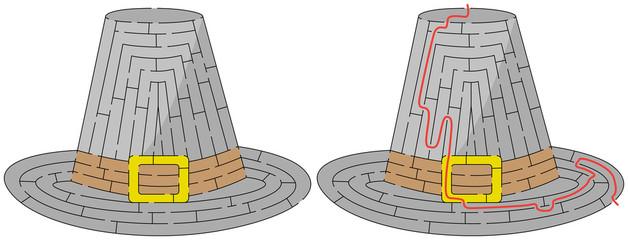 Easy pilgrim hat maze