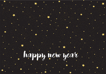 happy new year in black background