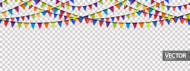 seamless garland background with vector transparency