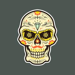 Dia de Muertos - Day of the Dead Skull Vector
